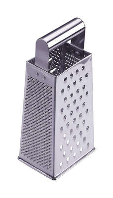 Progressive  Prepworks  3-7/16 in. W x 9-3/8 in. L Silver  Stainless Steel  4 Sided Grater
