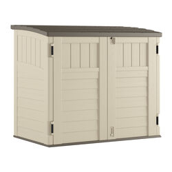 Suncast  White  Plastic  Horizontal  Horizontal Storage Shed  true