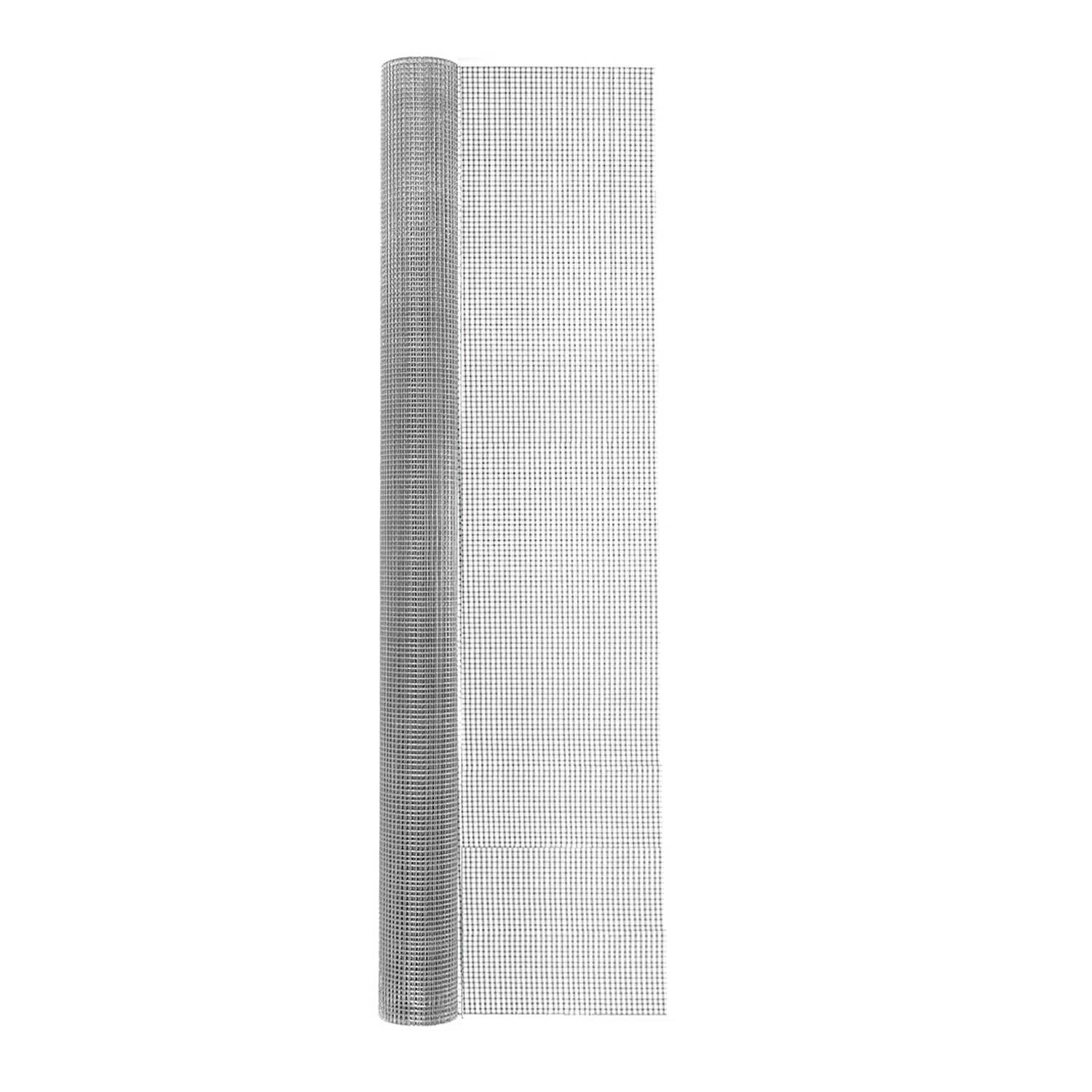 Garden Zone  48 in. W x 25 ft. L Silver  Steel  Hardware Cloth  1/4 in.