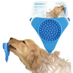 Aquapaw  Slow Treater  Blue  Silicone  Treat Feeder  For Cats/Dogs