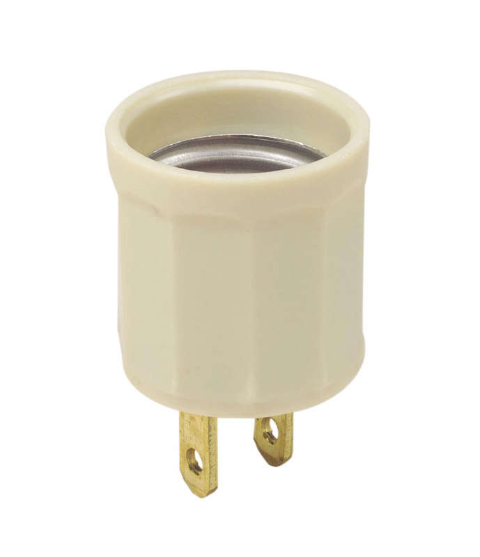Leviton  Plastic  Medium Base  Socket Adapter  1 pk