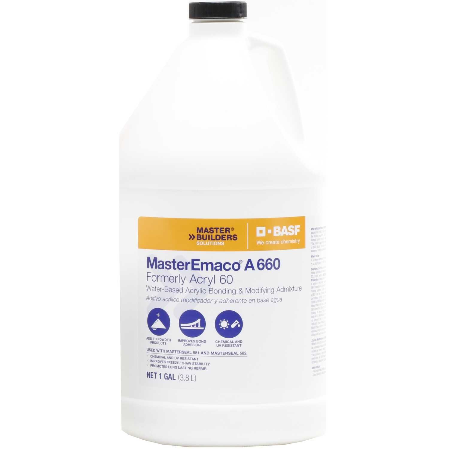 Acryl 60  White  Bonding Primer  For Use as a Bonding Agent Admixtures for Thoroseal 1 gal.