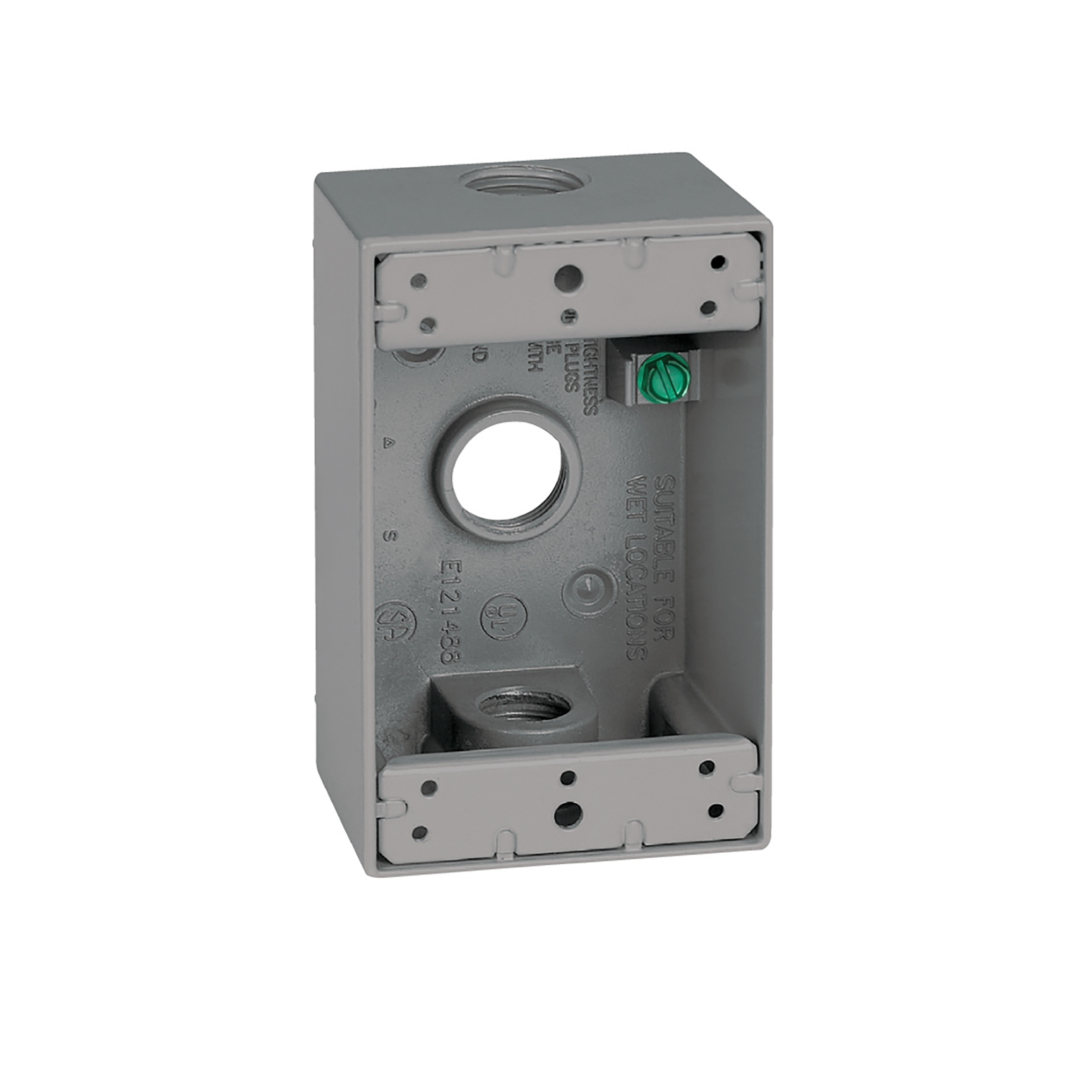 sigma rectangle aluminum 1 gang outlet box gray 4 1 2 in ace hardware rh acehardware com 5 Gang Electrical Box Old Work Electrical Box