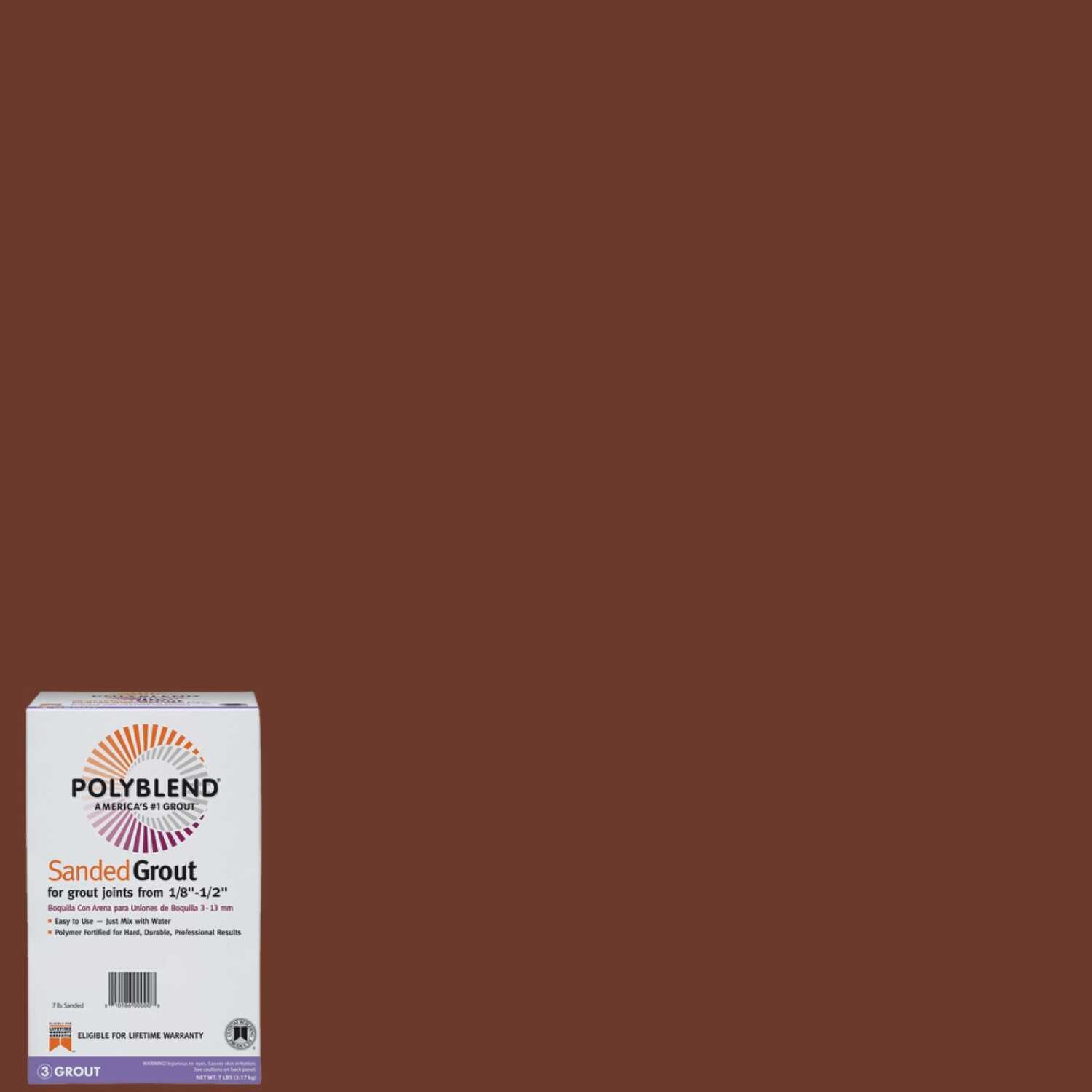 Custom Building Products  Polyblend  Indoor and Outdoor  Nutmeg Brown  Grout  7 lb.