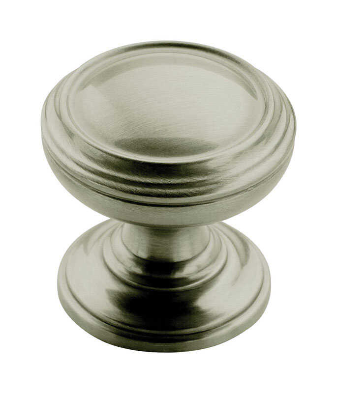 Amerock  Revitalize  Round  Cabinet Knob  1-1/4 in. Dia. 1-1/4 in. Satin Nickel  1 pk