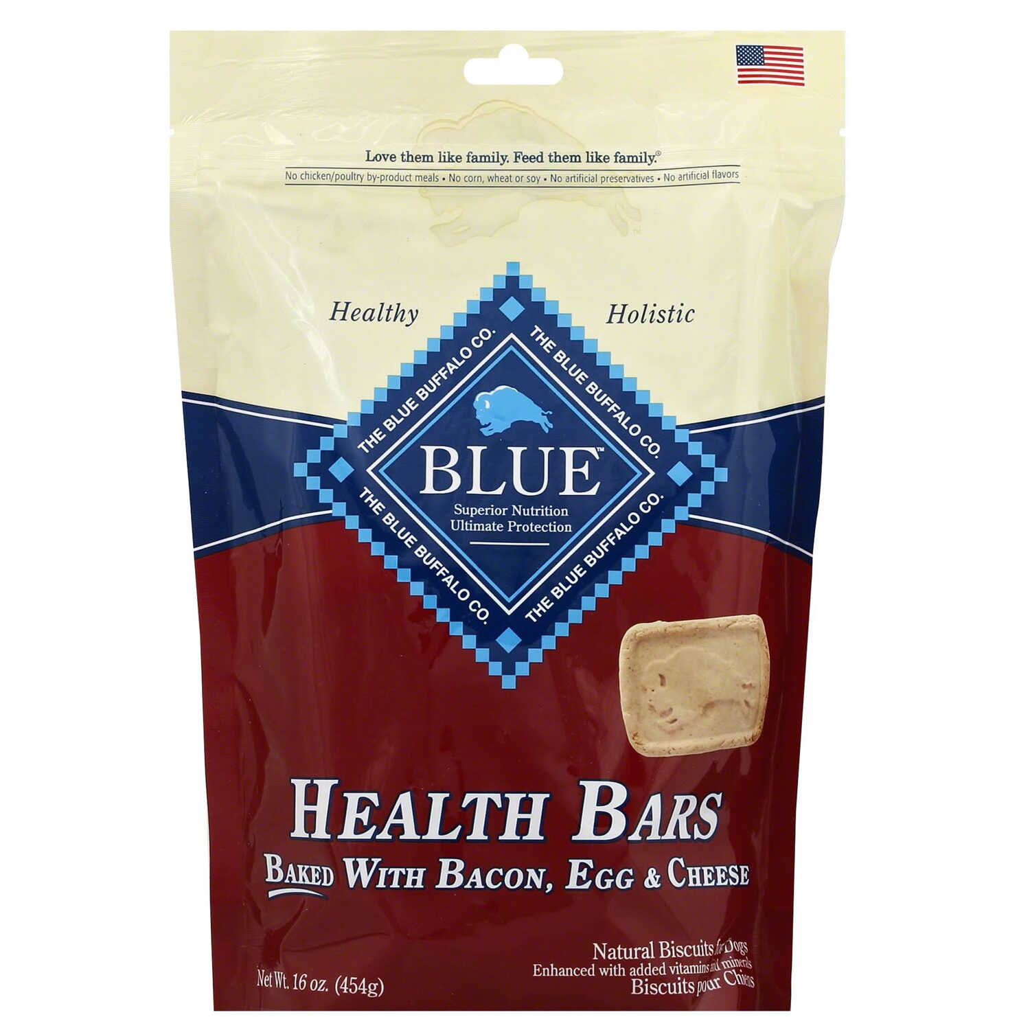 Blue Buffalo  Health Bars  Bacon, Egg and Cheese  Dog  Treats  1 pk