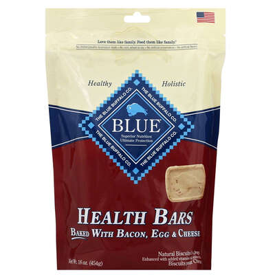 Blue Buffalo  Health Bars  Bacon, Egg and Cheese  Treats  For Dog 16 oz. 1 pk