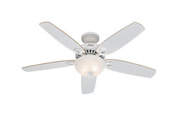 Hunter Fan Builder Deluxe 52 in. Snow White Indoor Ceiling Fan