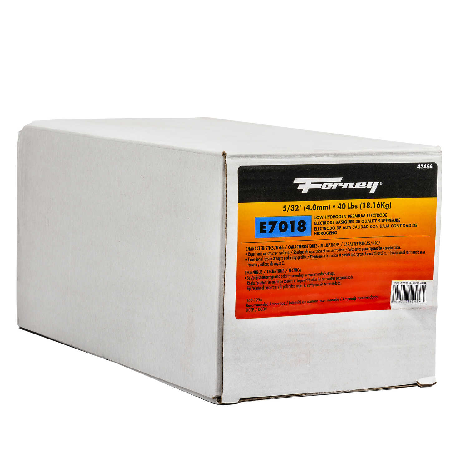Forney  5/32 in. Dia. x 15 in. L E7018  Mild Steel  Low-Hydrogen Welding Electrodes  84000 psi 40 lb