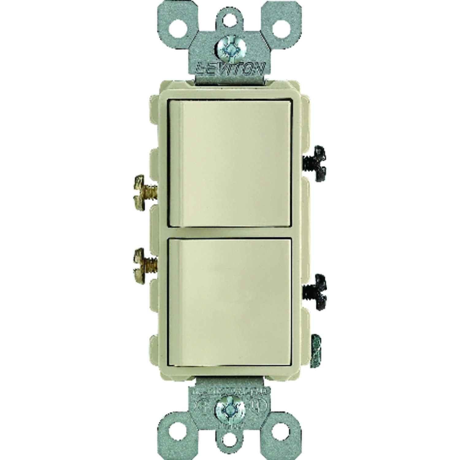 Leviton  15 amps Combination  Switch  Ivory  1 pk