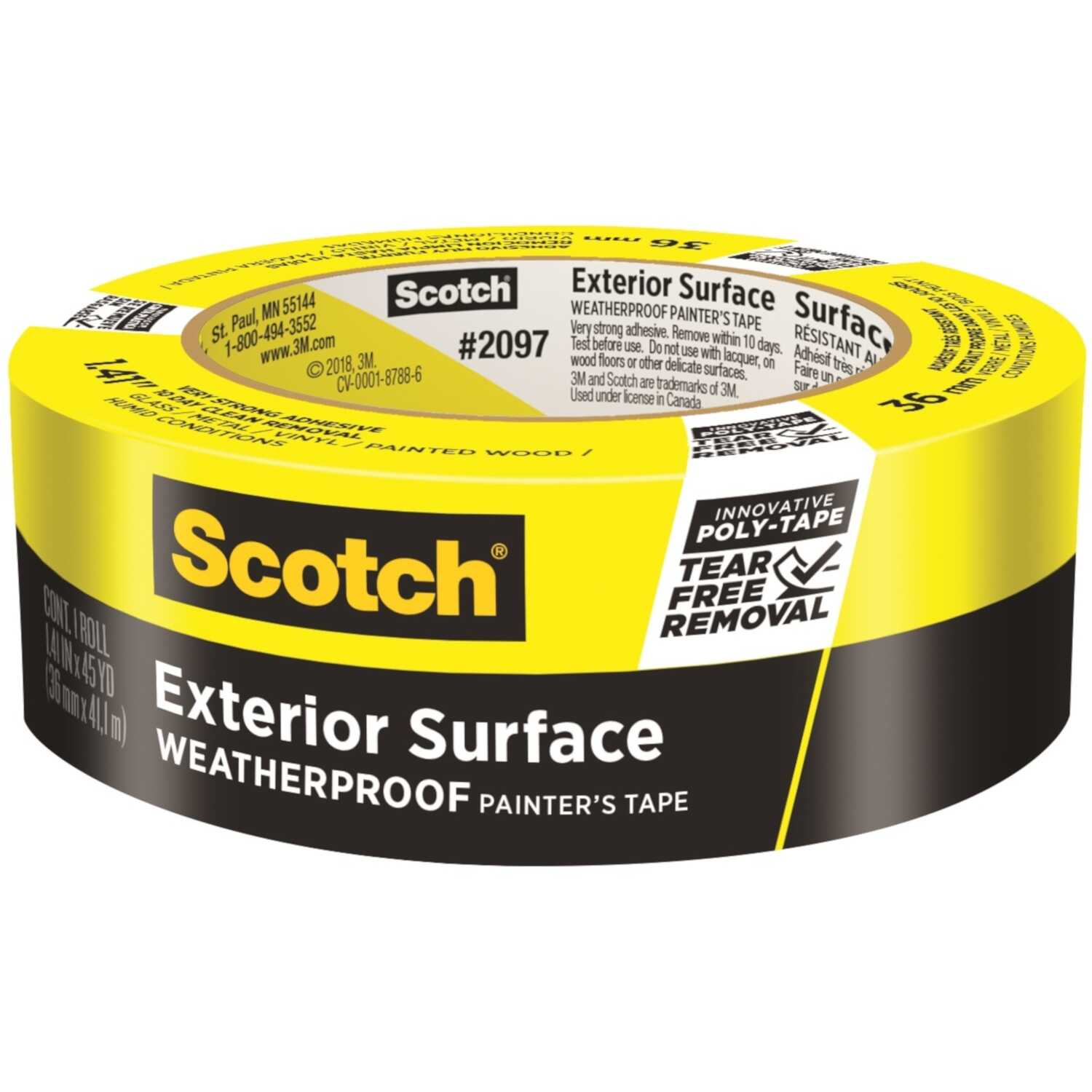 3M  Scotch Blue  1.41 in. W x 45 yd. L Blue  Super Strength  Painter's Tape  1 pk