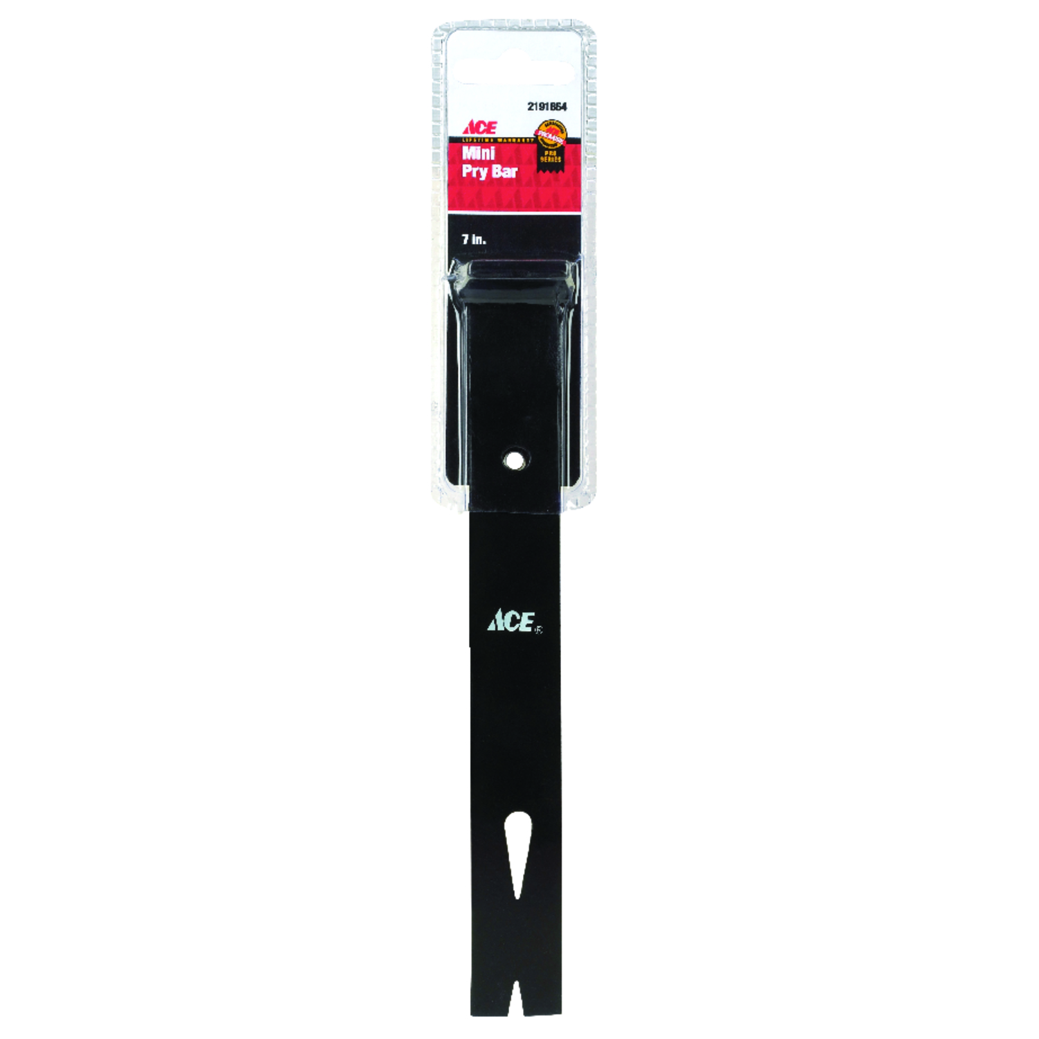 Ace  7 in. L Mini Pry Bar - Nail Puller  Black  1 pc.