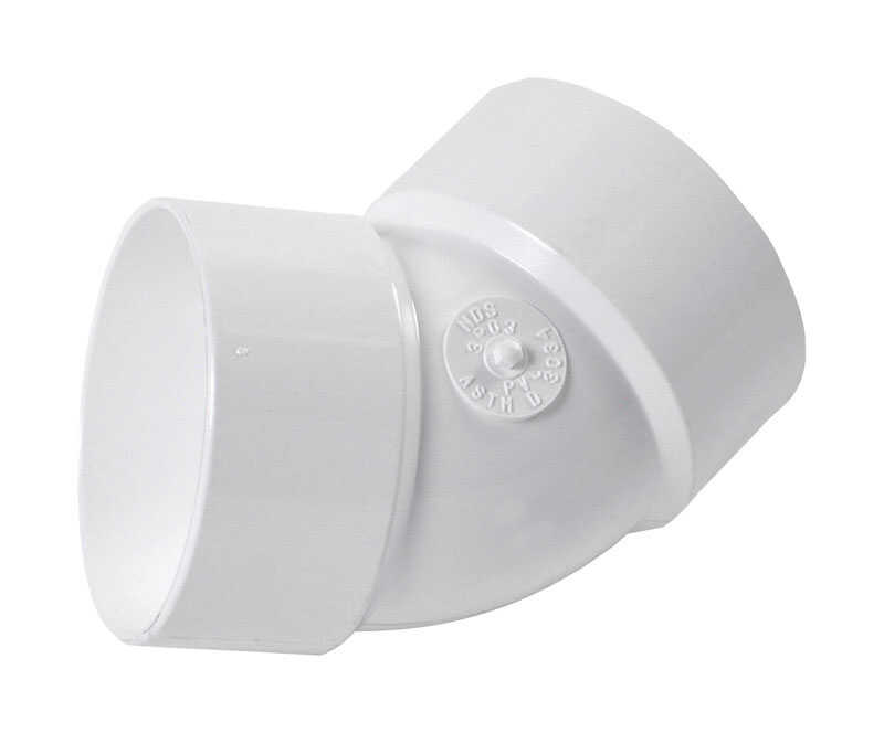 NDS  Schedule 35  3 in. Hub   x 3 in. Dia. Hub  PVC  Elbow