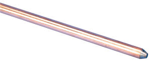 Erico  3/8 in. Copper-Bonded Steel  Ground Rod  1 pk