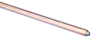 Erico  3/8 in. Copper-Bonded Steel  Ground Rod  5