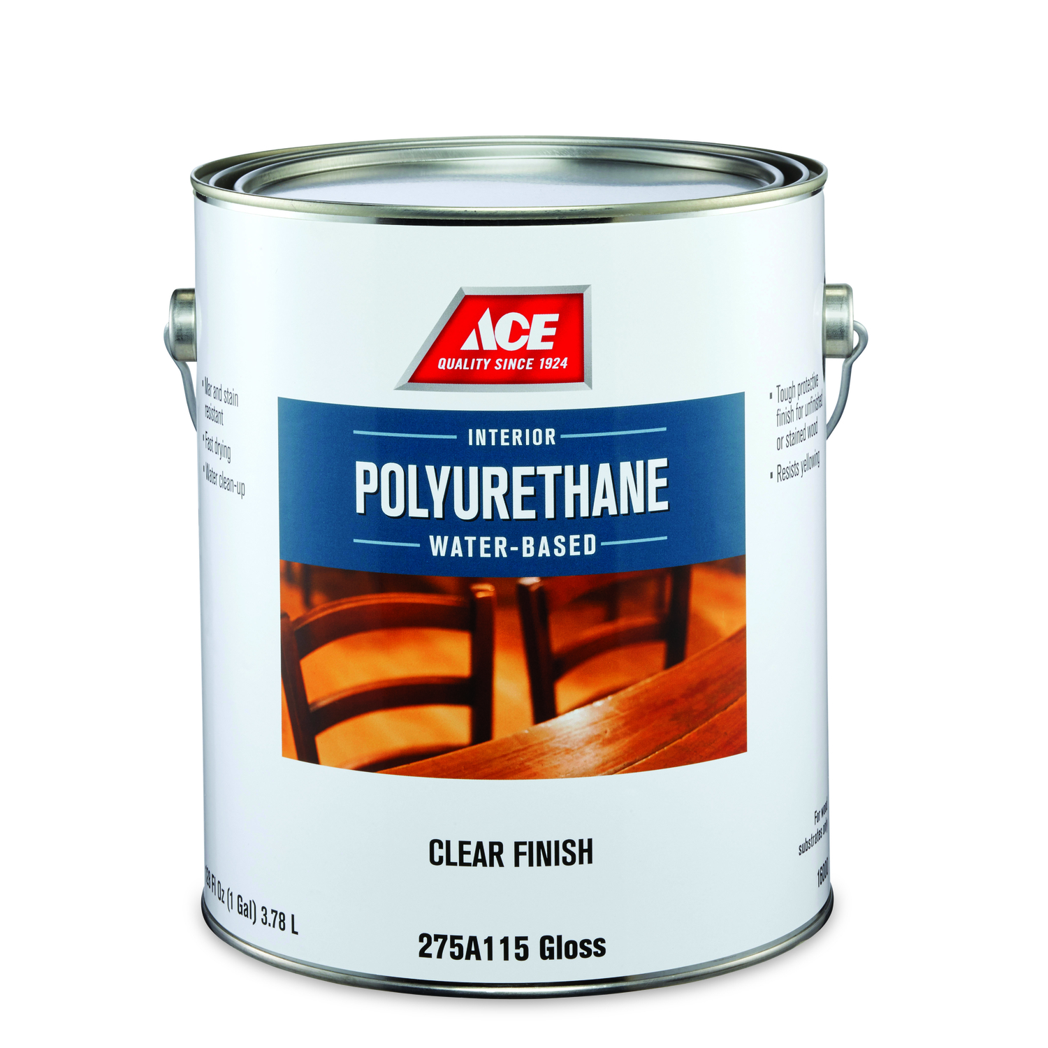 Ace  Gloss  Clear  Water Based Poly-Finish  1 gal.