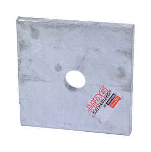 Simpson Strong-Tie  2 in. H x 3 in. L x 0.8 in. W Galvanized  Steel  Bearing Plate HDG