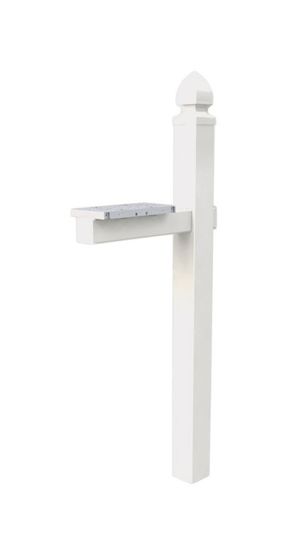 Gibraltar Mailboxes  6 in. W x 22-3/4 in. D x 57 in. H White  Mailbox Post Kit  PVC