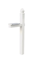 Gibraltar Mailboxes  Whitley  57 in. H x 22-3/4 in. D x 6 in. W White  PVC  Mailbox Post Kit