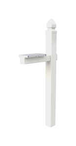 Gibraltar Mailboxes  57 in. H x 6 in. W x 22-3/4 in. D White  PVC  Mailbox Post Kit