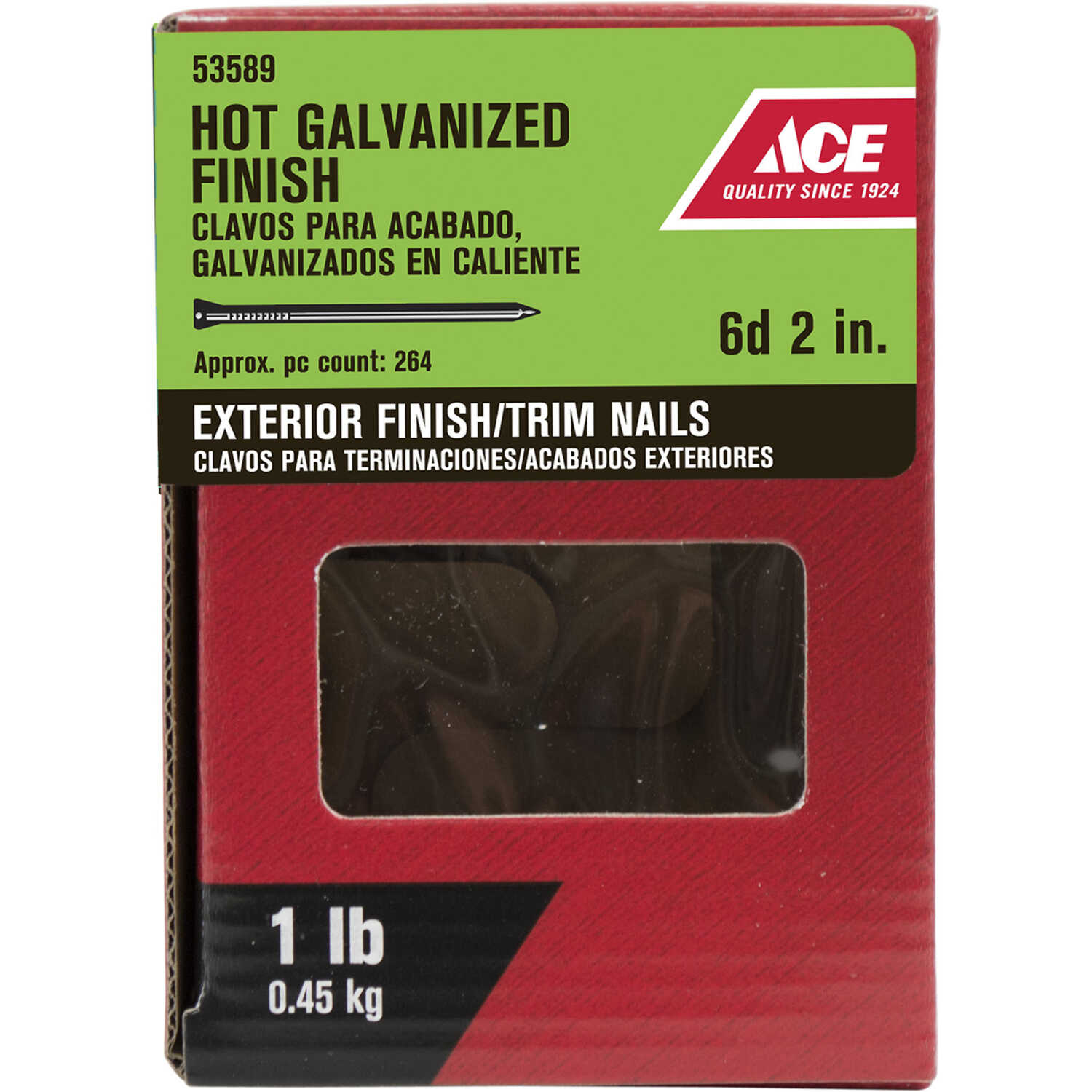 Ace  6D  2 in. L Finishing  Hot-Dipped Galvanized  Nail  Countersunk  1 lb.