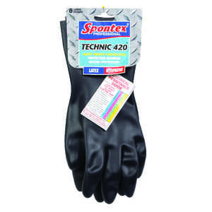 Spontex  Neoprene  Gloves  L  Black  1 pk