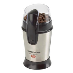 Black and Decker  SmartGrind  Black/Silver  Plastic/Steel  4 oz. Coffee Grinder