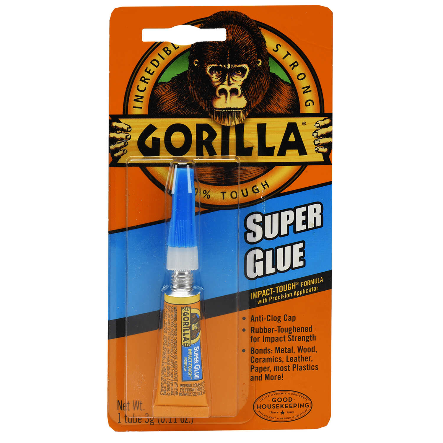 Gorilla  High Strength  Liquid  Super Glue  3 gm