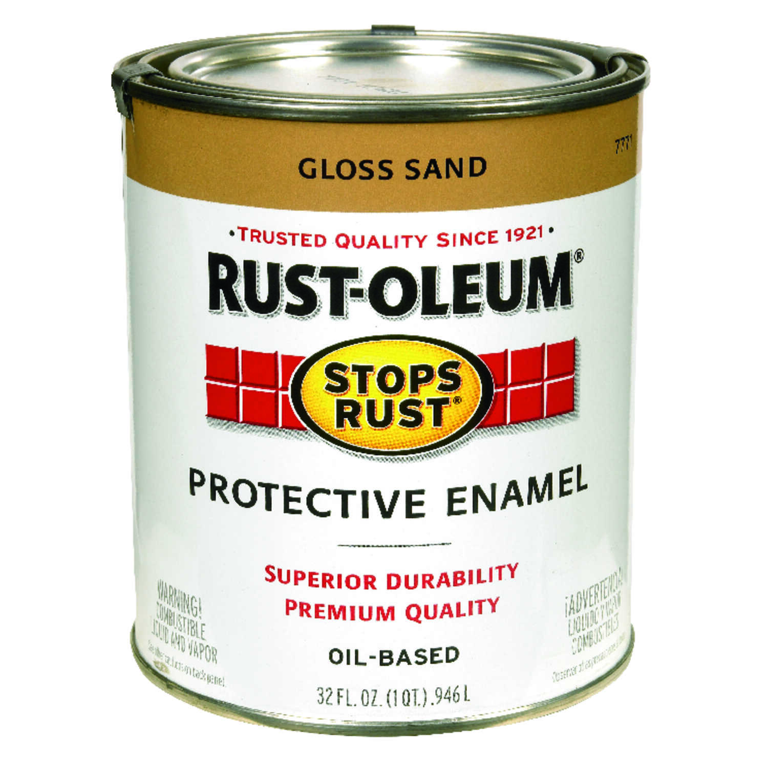 Rust-Oleum  Gloss  Sand  Protective Enamel  1 qt. Indoor and Outdoor