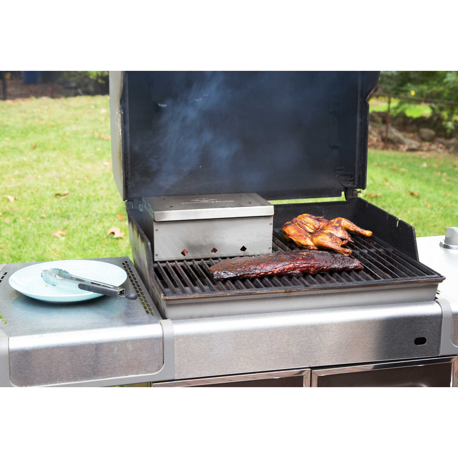 Diamondking Smoker  Stainless Steel  Grill Smoker Box