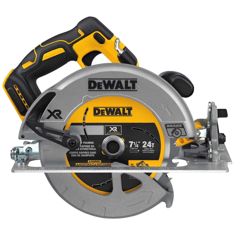 DeWalt 20V MAX XR 7-1/4 in. Cordless Circular Saw Bare Tool 5200 rpm