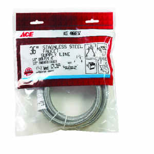 Ace  1/2 in. FIP   x 1/2 in. Dia. FIP  Braided Stainless Steel  36 in. Supply Line