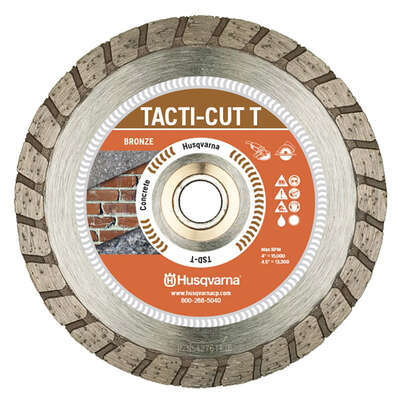 Husqvarna Tacti-Cut Dri Disc 7 in. Dia. x 7/8 in. Turbo Diamond Saw Blade 1 pk