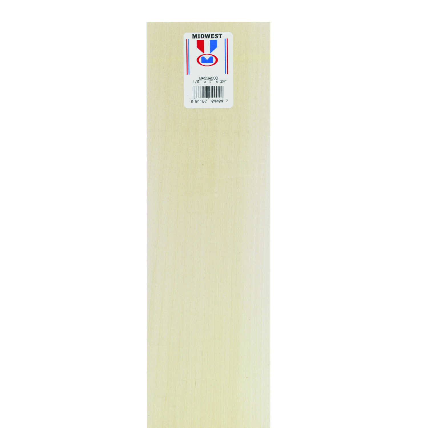 Midwest Products  4 in. W x 2 ft. L x 1/8 in.  Sheet  Basswood