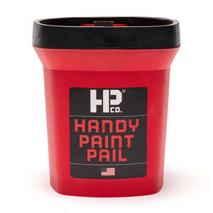 HANDy  HANDy Paint Pail  Red  Plastic  Bucket  1 qt.