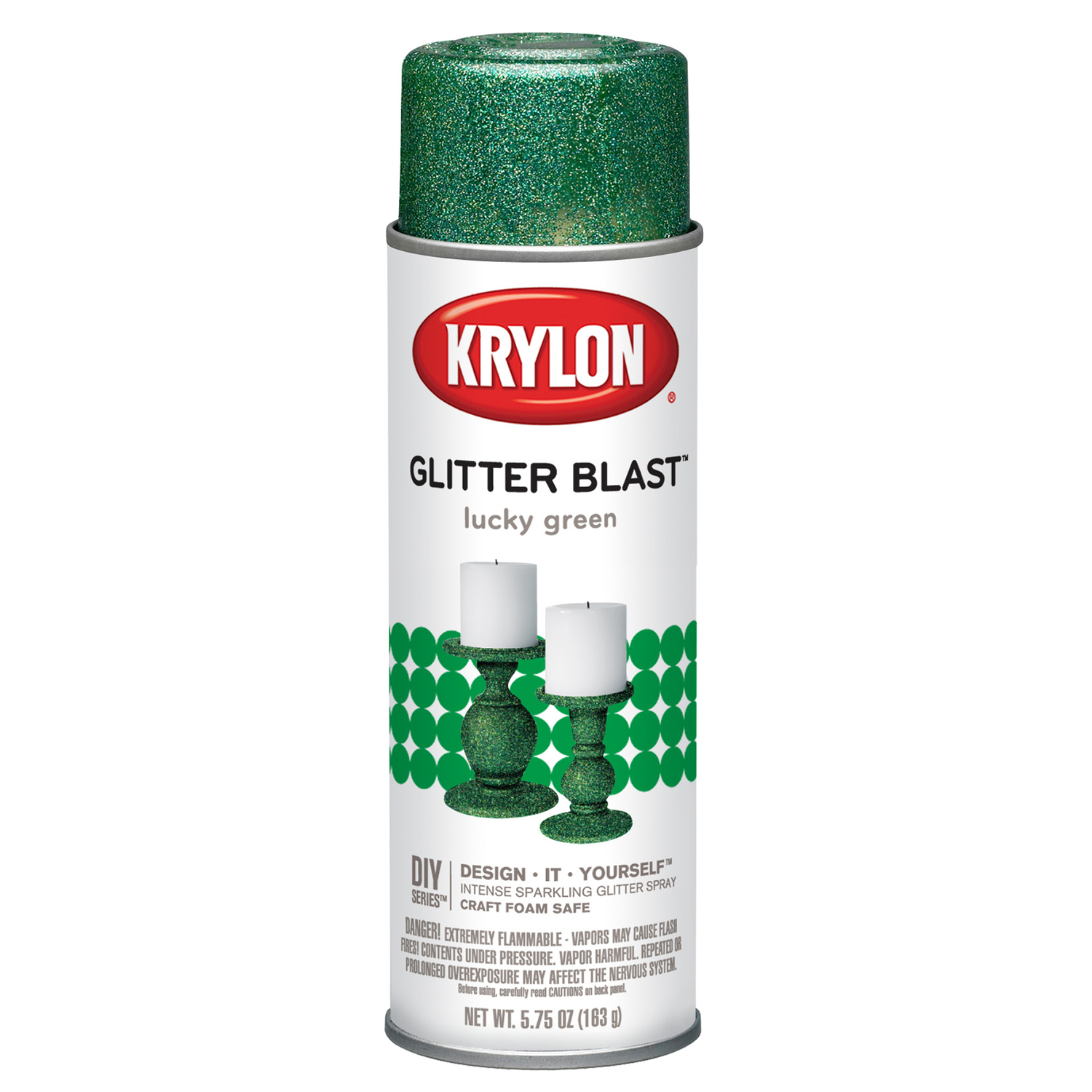 Krylon  Lucky Green  5.75 oz. Glitter Blast Spray Paint