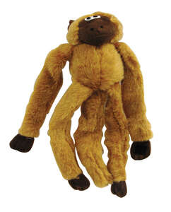 Diggers  Multicolored  Monkey Long Jumper  Plush  Dog Toy  Large