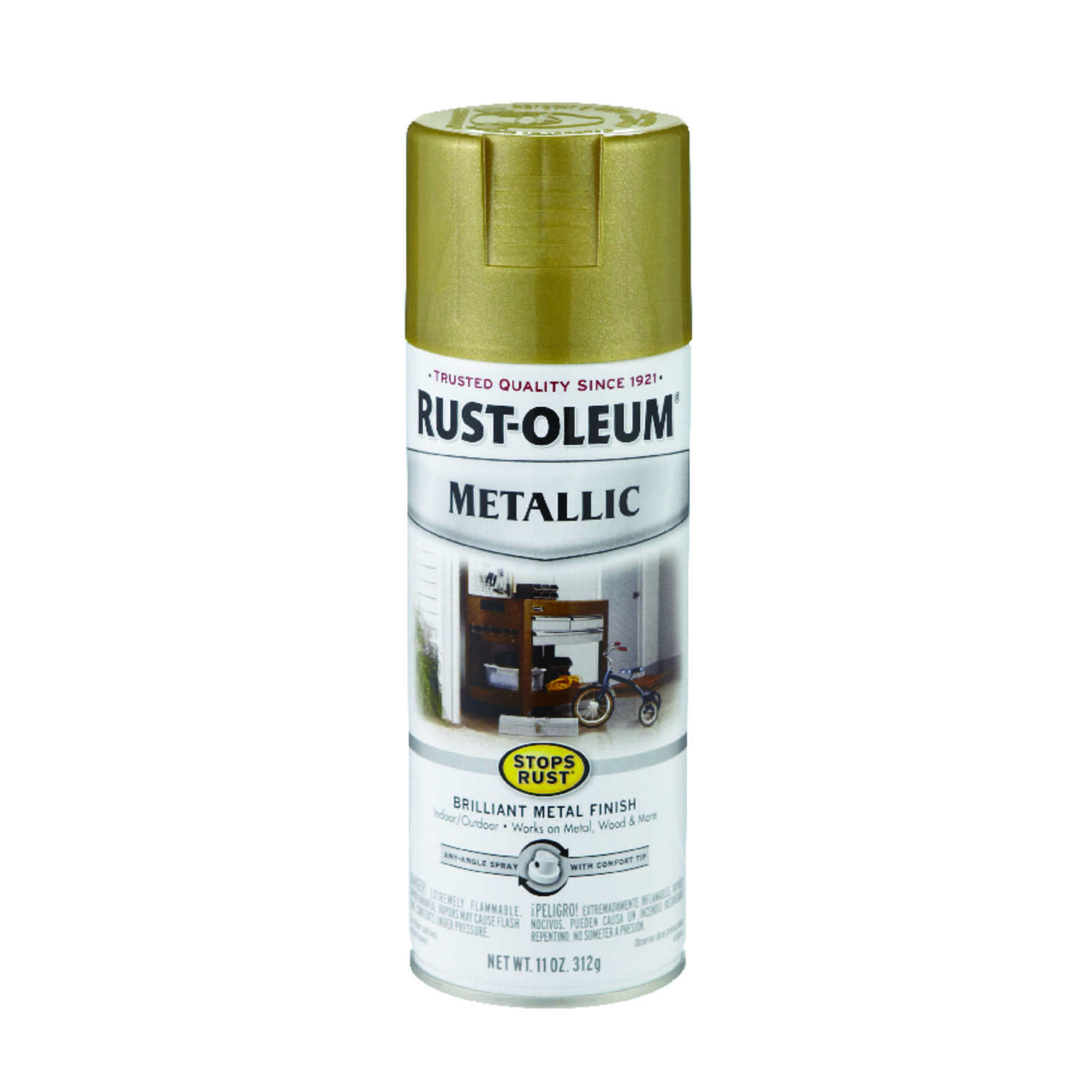 Rust-Oleum  Stops Rust  Gold Rush  Spray Paint  11 oz.