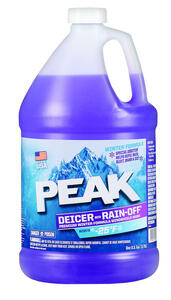 Peak  Rain-Off  Windshield Cleaner/De-Icer  Liquid  1 gal.