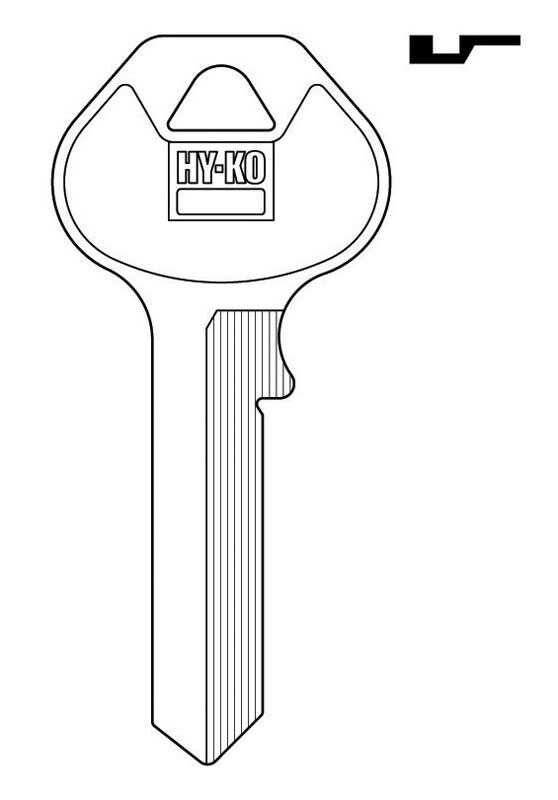 Hy-Ko  Automotive  Key Blank  EZ# M14  Single sided For For Club Automotive Locks