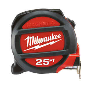 Milwaukee  25 ft. L x 1.5 in. W Premium  2 pk Tape Measure  Red