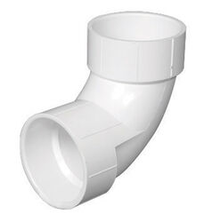 Charlotte Pipe  Schedule 40  4 in. Hub   x 4 in. Dia. Hub  PVC  90 Degree Elbow