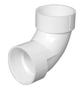 Charlotte Pipe  Schedule 40 DWV  PVC  90 Degree Elbow