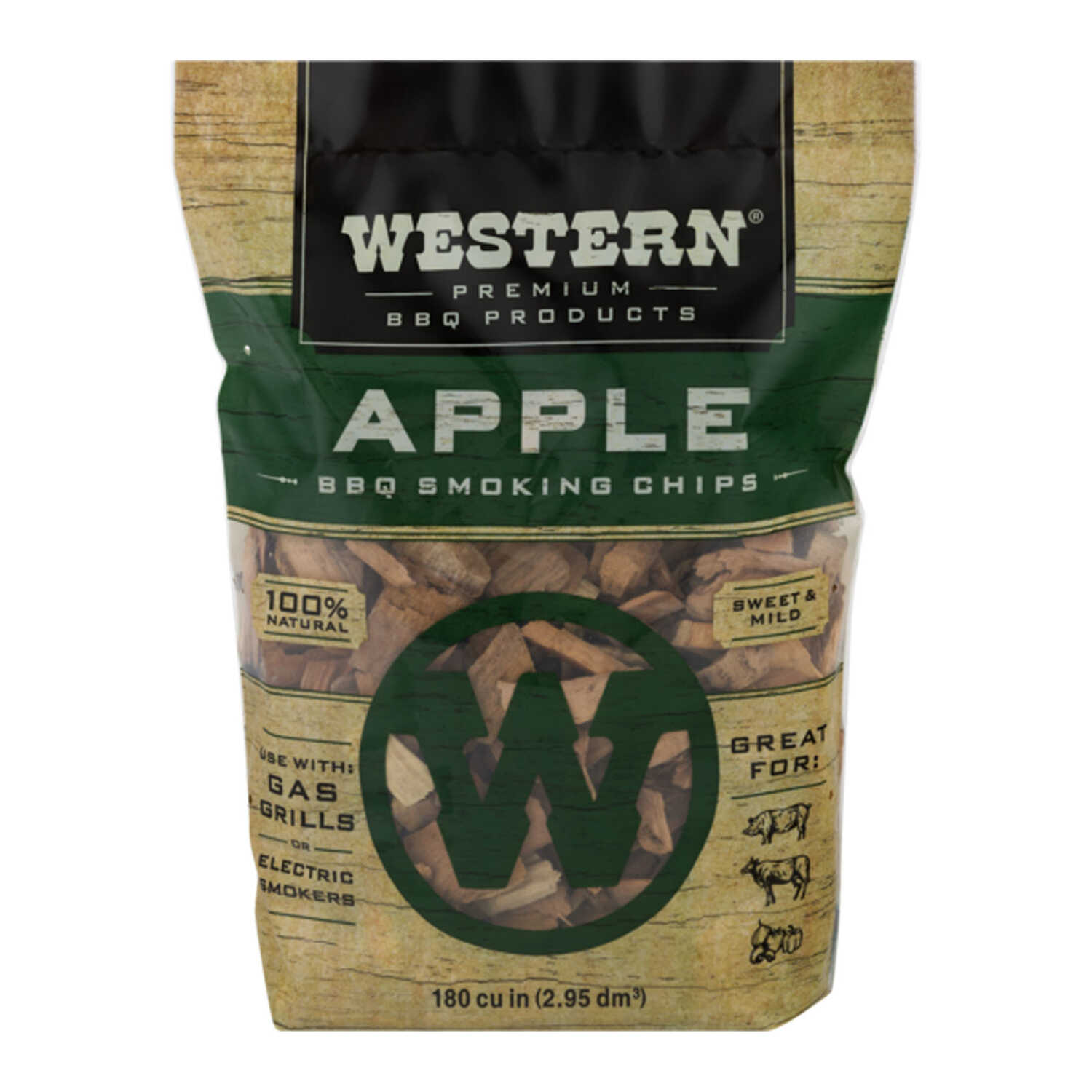 Western  Apple  Wood Smoking Chips  180 cu. in.