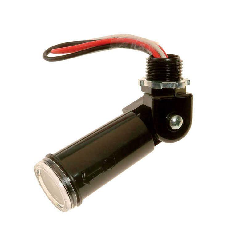 Amertac Black Photoelectric Swivel Eye Light Control 1 Pk