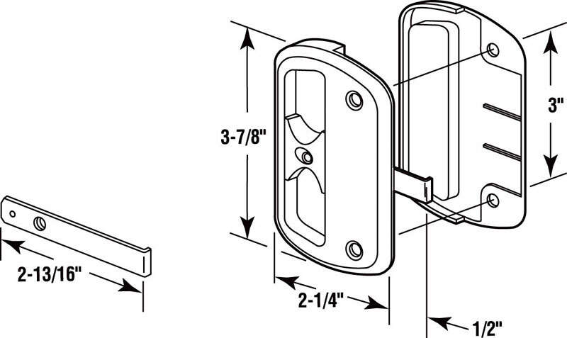 Prime-Line  Black  Plastic  Latch and Pull  1