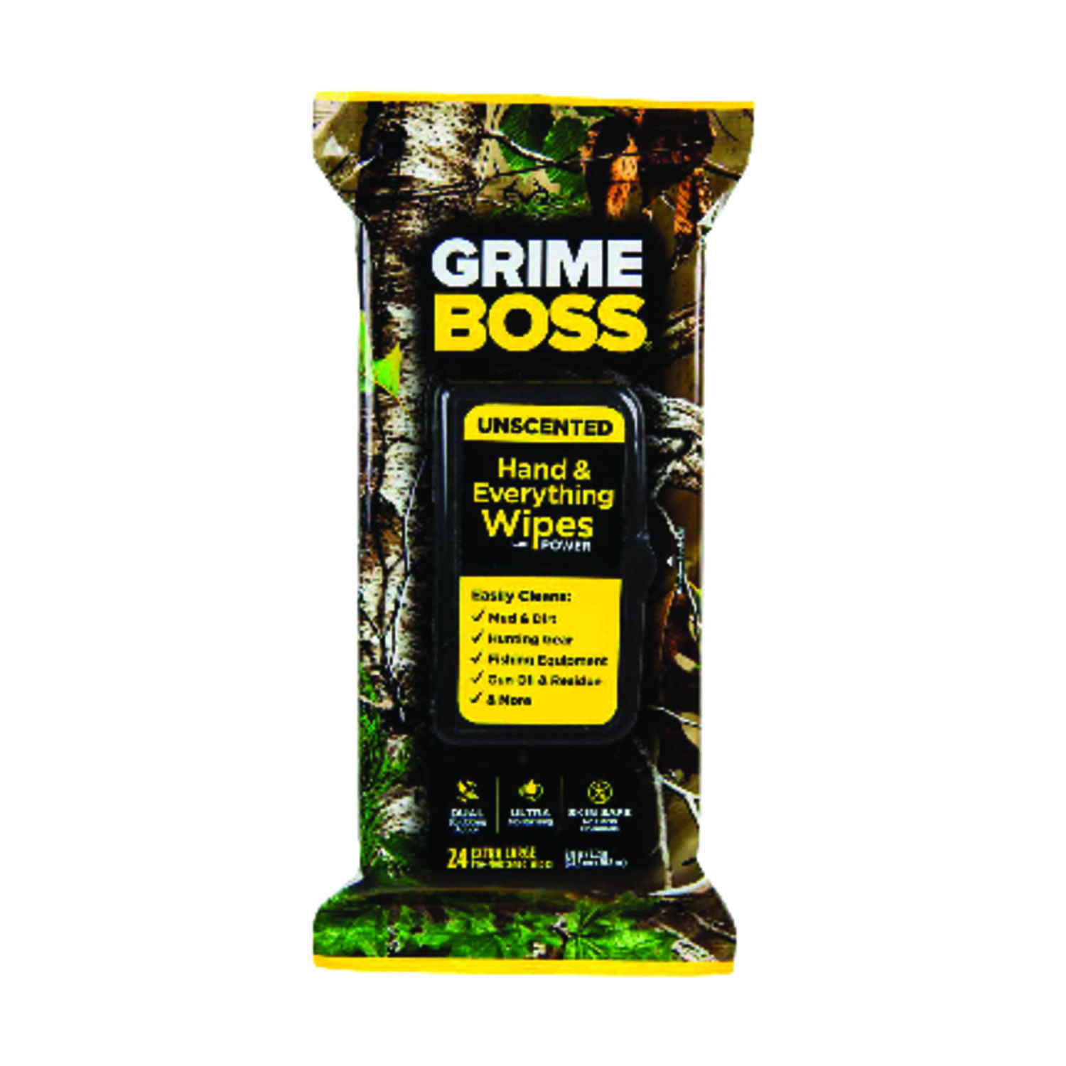Grime Boss  Fiber Blend  Cleaning Wipes  9.8 in. W x 8.2 in. L 24 pk