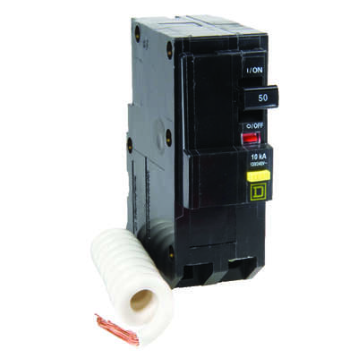 Square D  QO  50 amps Plug In  2-Pole  Circuit Breaker
