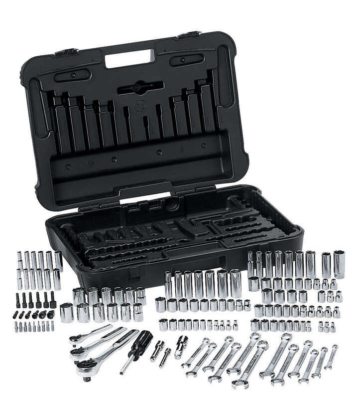Craftsman 3 8 In X 1 4 Drive Sae 6 Point Mechanic S Tool Set 168 Pc Ace Hardware
