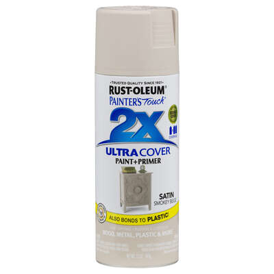 Rust-Oleum  Painter's Touch 2X Ultra Cover  Satin  Smokey Beige  Spray Paint  12 oz.